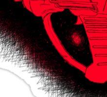 Sketchy red Ray gun Sticker