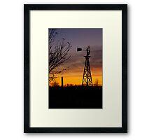 Windmill at Dusk Framed Print
