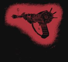 red sketchy ray gun by aaronnaps