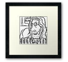 Hair Peace: Digital John Lennon Caricature Framed Print