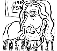 Hair Peace: Digital John Lennon Caricature Photographic Print