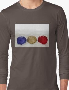 Christmas Baubles Sprinkled With Snow Long Sleeve T-Shirt
