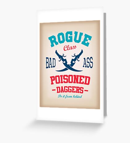 Rogue Class Greeting Card