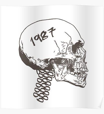 Vintage Skull Poster