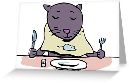 hungry cat by greendeer