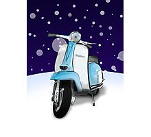 Mod Scooter (Lambretta) Special Christmas Card Photographic Print