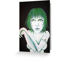 Green girl Greeting Card