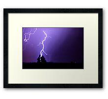 Lightnig Strikes Framed Print