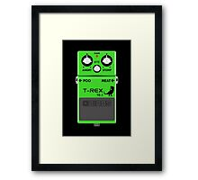 T-Rex Distortion Pedal Framed Print