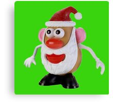 Santa potato Canvas Print