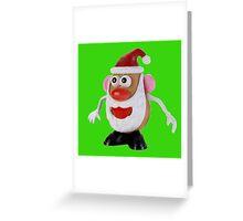 Santa potato Greeting Card