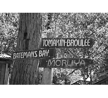Old South Coast Signs  Photographic Print