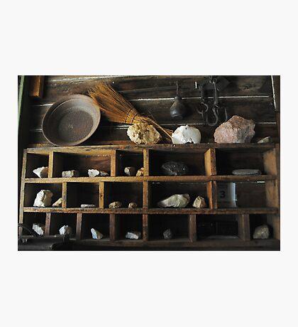 Sleepy Antique Shelves Photographic Print