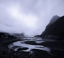 Milford Sound - a region of fiords. by Caroline Gorka