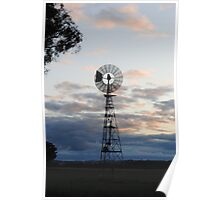 Lonely Windmill Poster