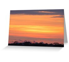 Sunset over the countryside Greeting Card