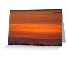 VIVID orange sunset Greeting Card