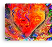 My heart is burning with intense feelings of Amor Canvas Print