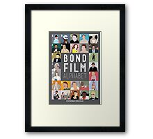 Bond Film Alphabet Framed Print