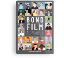 Bond Film Alphabet Metal Print
