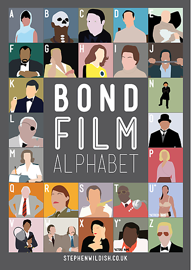 Bond Film Alphabet by Stephen Wildish