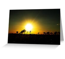 sunset outback NSW. Greeting Card