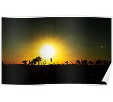 sunset outback NSW. Poster