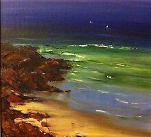 Breaking shore by Hugh Cross