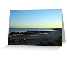Essex Coastline as sun goes down Greeting Card