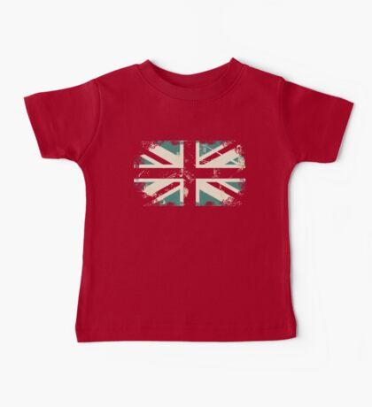 grungy UK flag Baby Tee