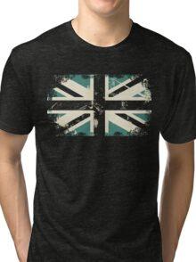 grungy UK flag Tri-blend T-Shirt