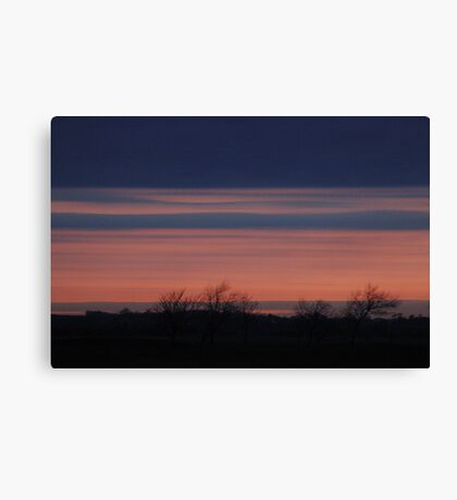 Blue and Red Sky Canvas Print
