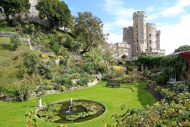 Windsor castle garden by llewellyn cass redbubble for Windsor garden studio
