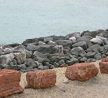 Unusual sea defences by Stan Daniels