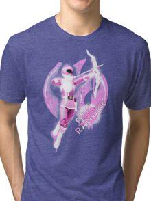 Pink Ranger Splatter Tri-blend T-Shirt
