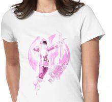 Pink Ranger Splatter Womens Fitted T-Shirt