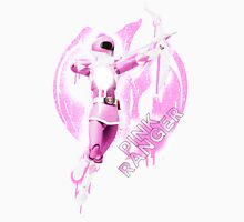 Pink Ranger Splatter Womens Fitted T-Shirt