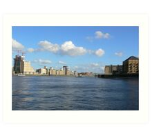 View on the Thames River Art Print