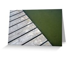 A stage cross a lake Greeting Card