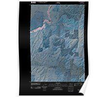 USGS Topo Map Washington State WA Rulo 20110404 TM Inverted Poster