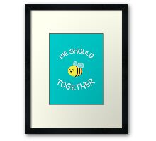 A bug's love life! Framed Print