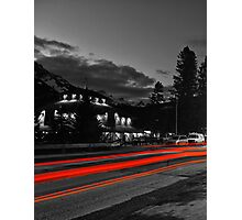 The Red Lights Trails of Banff Photographic Print