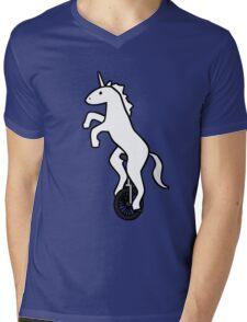 Unicorn on a Unicycle Mens V-Neck T-Shirt