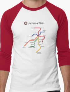Jamaica Plain Men's Baseball ¾ T-Shirt
