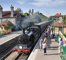 Corfe railway station by Ian Merton