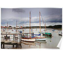 Boats at Woodbridge Poster