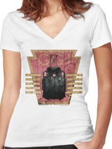 The GG1 Electric Locomotive Women's Fitted V-Neck T-Shirt