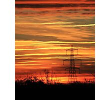 Autumn sunset Photographic Print