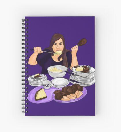 Violet Gluttony Spiral Notebook