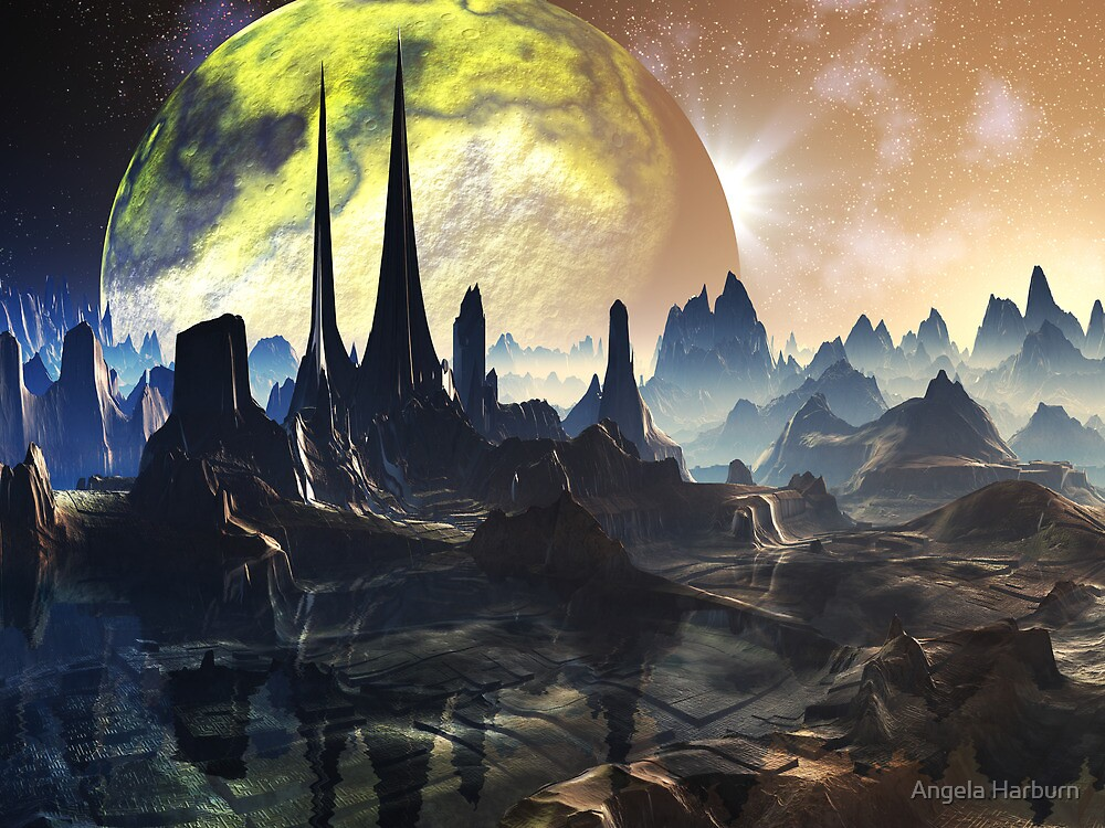 Hyperious Temple Ruins - Planet Ryjal by SpinningAngel